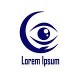 Logotipo do hospital do olho Foto de Stock