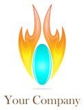 Logotipo do incêndio e da água ilustração stock