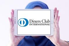 Logotipo do International do clube dos jantares imagens de stock