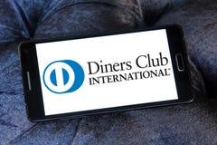 Logotipo do International do clube dos jantares fotografia de stock royalty free