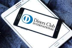 Logotipo do International do clube dos jantares foto de stock