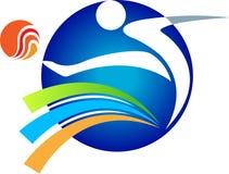 Logotipo do jogador de futebol Fotos de Stock