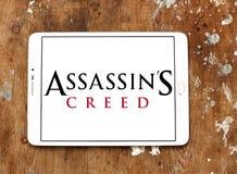 Logotipo do jogo de vídeo do credo do ` s do assassino fotografia de stock royalty free