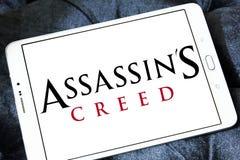 Logotipo do jogo de vídeo do credo do ` s do assassino foto de stock royalty free