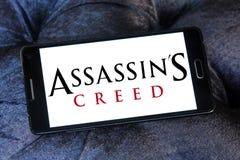 Logotipo do jogo de vídeo do credo do ` s do assassino imagens de stock