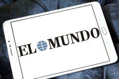 Logotipo do jornal do EL Mundo fotografia de stock