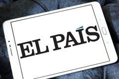 Logotipo do jornal do EL Pais foto de stock royalty free