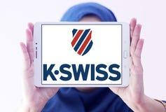 Logotipo do K-suíço imagem de stock royalty free