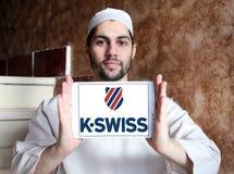Logotipo do K-suíço imagem de stock
