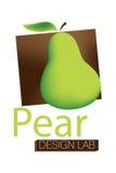 Logotipo do laboratório do projeto da pera Foto de Stock