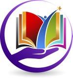 Logotipo do livro da mão ilustração stock