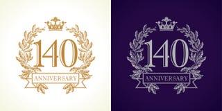logotipo do luxo de 140 aniversários Imagem de Stock