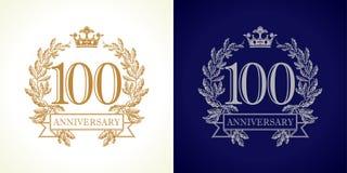 logotipo do luxo de 100 aniversários Fotografia de Stock Royalty Free