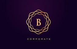 Logotipo do luxo de B Vetor do projeto de letra do monograma ilustração royalty free
