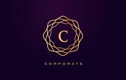 Logotipo do luxo de C Vetor do projeto de letra do monograma ilustração do vetor