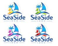 Logotipo do mar ilustração royalty free