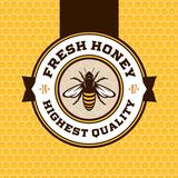 Logotipo do mel do vetor Ilustração Stock