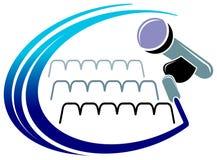 Logotipo do microfone Fotografia de Stock