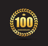 Logotipo do molde 100 do aniversário anos de ilustração do vetor Fotografia de Stock