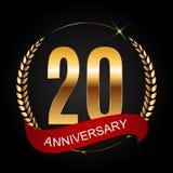 Logotipo do molde 20 do aniversário anos de ilustração do vetor Imagem de Stock Royalty Free