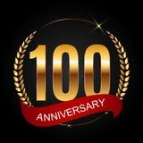 Logotipo do molde 100 do aniversário anos de ilustração do vetor Fotos de Stock Royalty Free