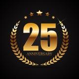 Logotipo do molde 25 do aniversário anos de ilustração do vetor Fotografia de Stock Royalty Free