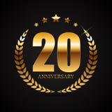 Logotipo do molde 20 do aniversário anos de ilustração do vetor Fotografia de Stock