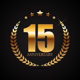 Logotipo do molde 15 do aniversário anos de ilustração do vetor Imagem de Stock Royalty Free