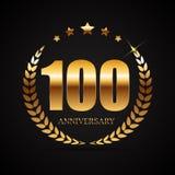 Logotipo do molde 100 do aniversário anos de ilustração do vetor Imagem de Stock Royalty Free