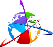 Logotipo do mundo Imagem de Stock