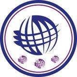 Logotipo do mundo Imagens de Stock