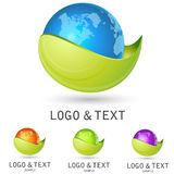 Logotipo do mundo ilustração do vetor