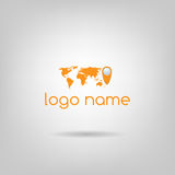 Logotipo do mundo Imagem de Stock