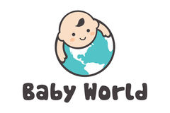 Logotipo do mundo do bebê Foto de Stock Royalty Free