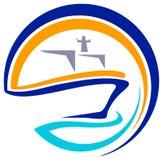 Logotipo do navio ilustração royalty free