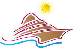 Logotipo do navio ilustração do vetor