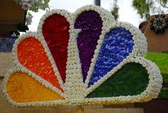 Logotipo do NBC feito com pétalas da flor Imagem de Stock