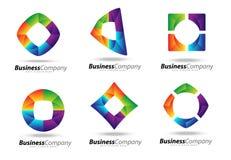 Logotipo do negócio Fotografia de Stock