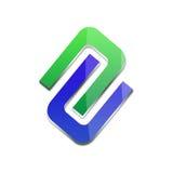logotipo do negócio 3d Fotografia de Stock