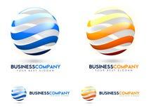 logotipo do negócio 3D Imagem de Stock Royalty Free