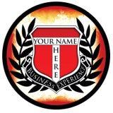 Logotipo do negócio da crista ilustração do vetor
