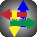 Logotipo do negócio da logística da abstração da seta Imagem de Stock Royalty Free