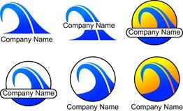 Logotipo do negócio da onda Imagem de Stock Royalty Free