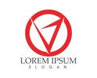 Logotipo do negócio das letras v e molde dos símbolos Fotografia de Stock Royalty Free