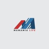 Logotipo do negócio de vida de Mamamia Imagem de Stock