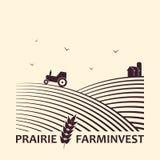Logotipo do negócio do investimento da exploração agrícola imagens de stock