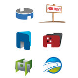Logotipo do negócio dos bens imobiliários Imagens de Stock Royalty Free