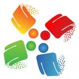Logotipo do negócio dos trabalhos de equipa Imagens de Stock Royalty Free