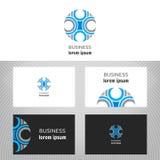 Logotipo do negócio para a empresa Imagens de Stock Royalty Free