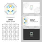 Logotipo do negócio para a empresa Elemento do polígono do vetor para editar Fotos de Stock Royalty Free